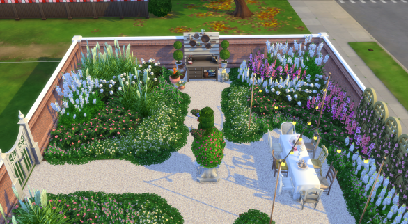 Overlooking the flower arranging area
