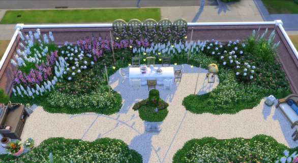 Overlooking the dining area
