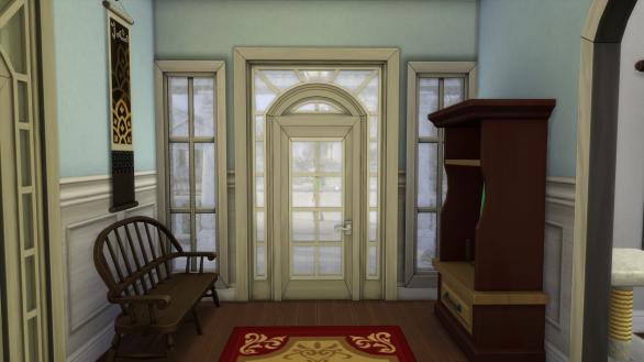 Front door from hall