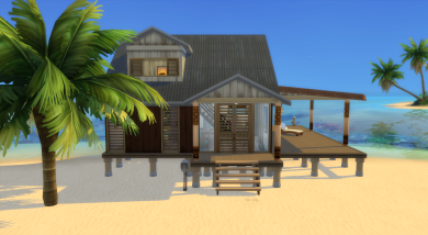 Front of the little weathered beach starter
