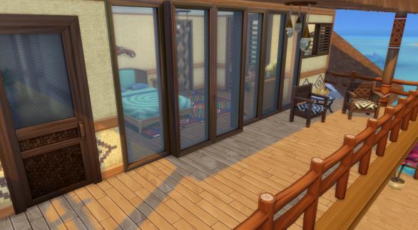 Upper back deck