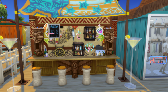 The beachside bar with cool drinks on hot days