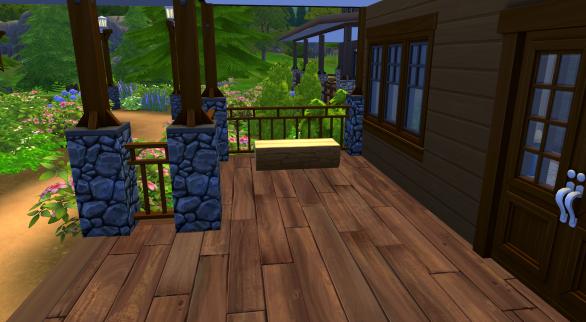 Camper's cabin 2 left side of the porch