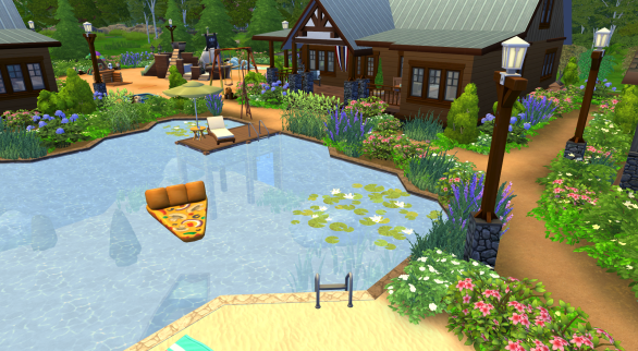 Each of the camper's cabins has their own pier to use on the lake.