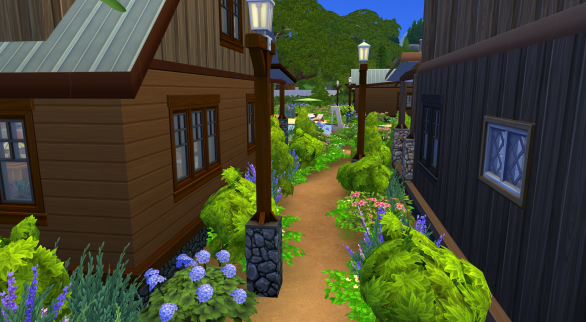 Path between cabin 2 and the dining hall